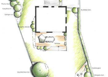 Detailzeichnung Zaunelement