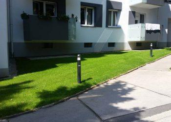 Fertigrasen fertig Wohnhausanlage Wien