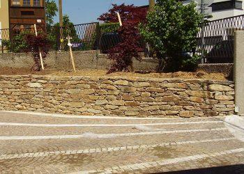 Hartgneis Steinmauer