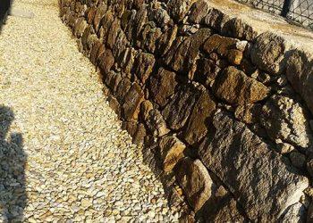 Natursteinmauer Granit Schotter 16-32 gebraucht
