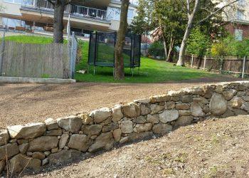 Natursteinmauer Sandstein