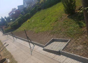 Zaun Renovierung Beetsteine