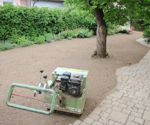 Hydrostatische Grassämaschine