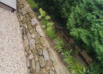 Granit Nautsteinmauer