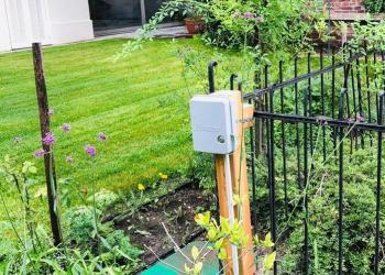 Bewässerungscomputer und Ventilkasten