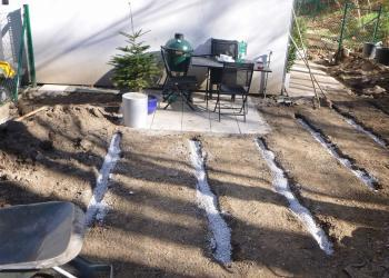 Flächendrainage Künettenfräse